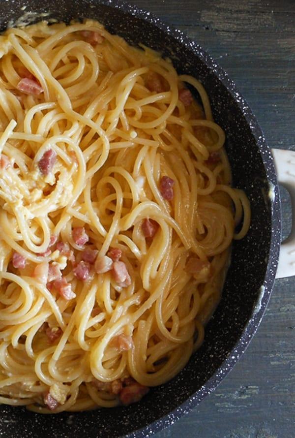 Carbonara Pancetta and Egg Pasta