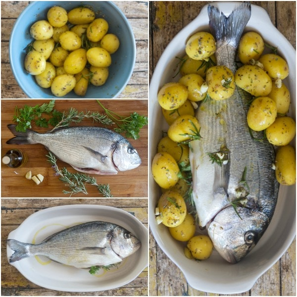 baked whole trout how to make stuffed, tossed potatoes and in the pan for baking