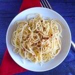 spaghetti, aglio, olio
