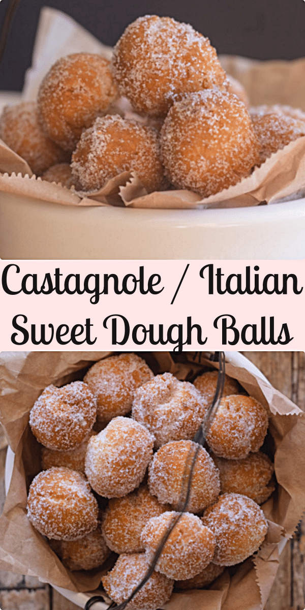 Castagnole (sweet dough balls) a delicious Italian Carnival recipe. Soft on the inside and crunchy on the outside. Yummy and perfect. #castagnole #sweetdoughballs #Italiansweet #donuthole