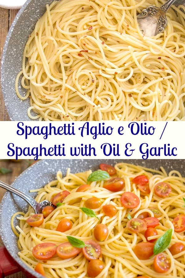 Spaghetti, Aglio, Olio e Peperoncino or also known as Spaghetti with Garlic and Oil is probably one of the most popular Italian Pasta Dishes. Made with only 4 ingredients, this fast and easy recipe is simple yet delicious.#pasta #Italiancuisine #dinnerrecipe