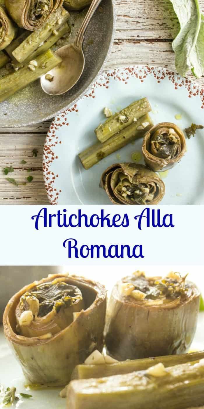 Artichokes alla Romana (Roman Style),an easy and delicious way to make artichokes, tasty and mouth-watering. Will become a family favorite. |anitalianinmykitchen.com