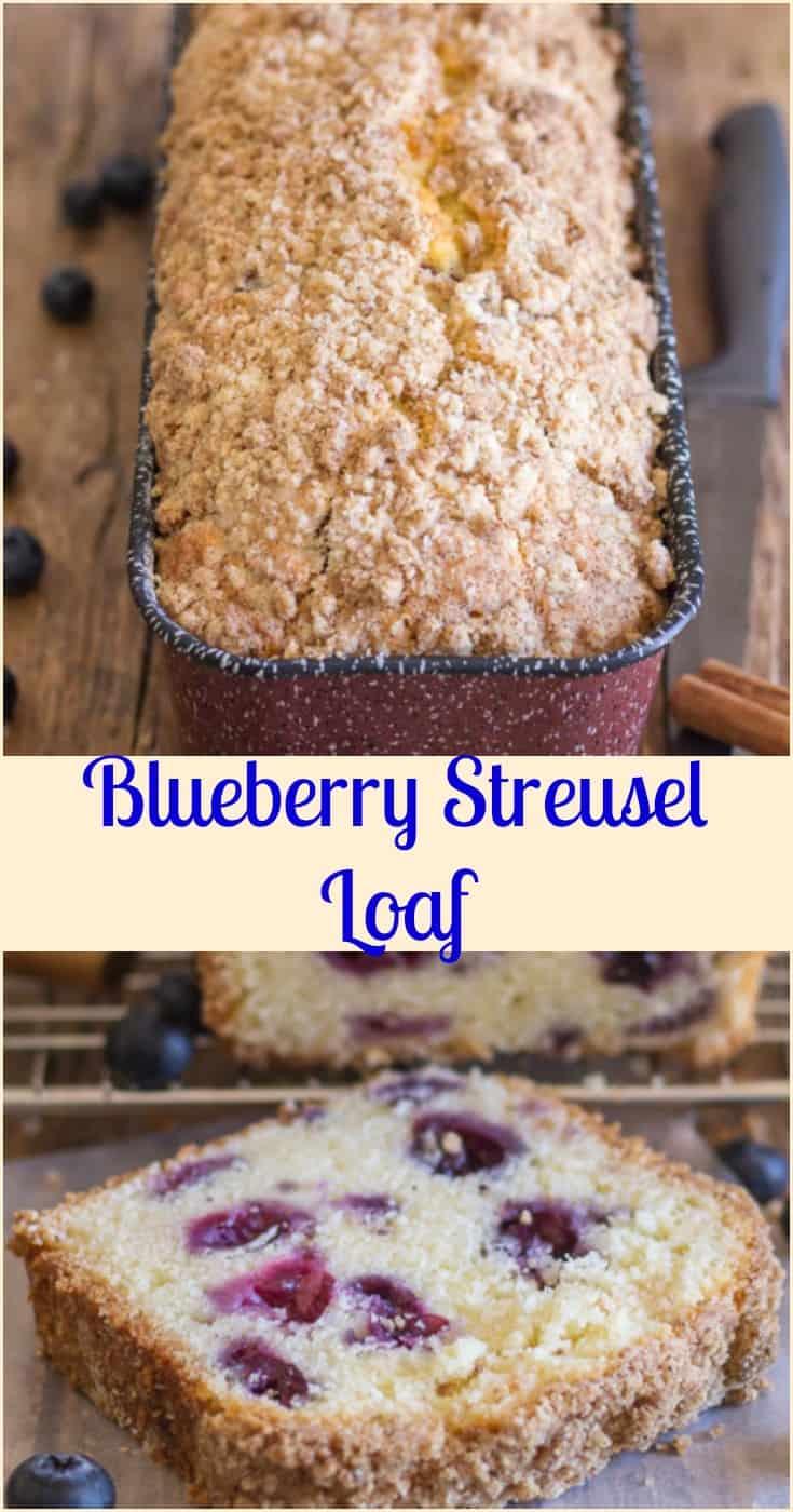 Blueberry Streusel Loaf