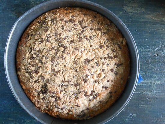 chocolate chip streusel cake 4