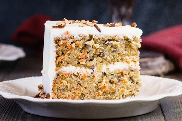 a slice of carrot cake