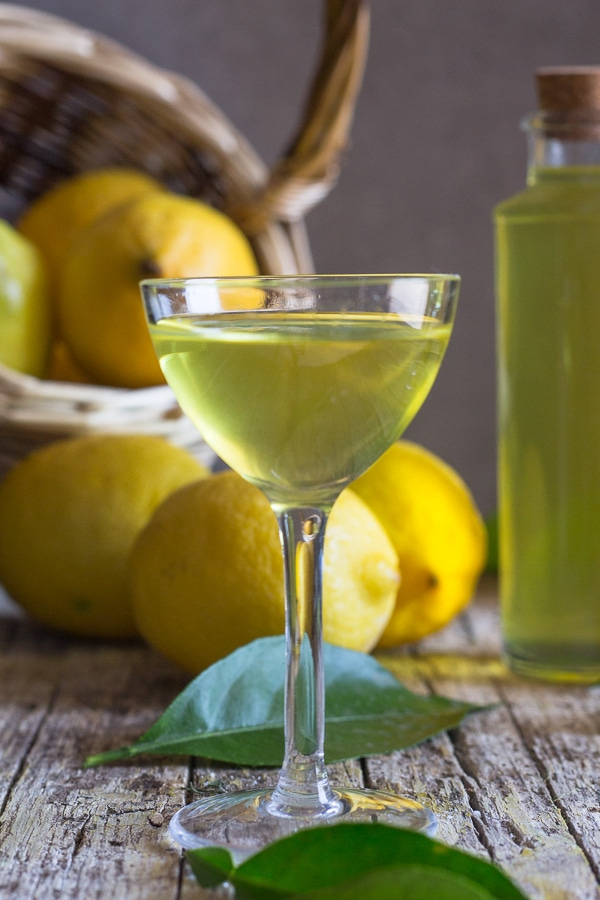 limoncello in a glass