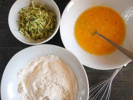 ingredients to make zucchini loaf
