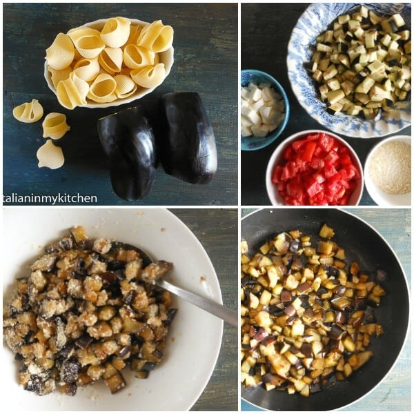 Fresh Tomato Eggplant Cheese Shells, the perfect Stuffed Pasta Shells with cheese and eggplant. An easy Italian Vegetarian Dinner Recipe..