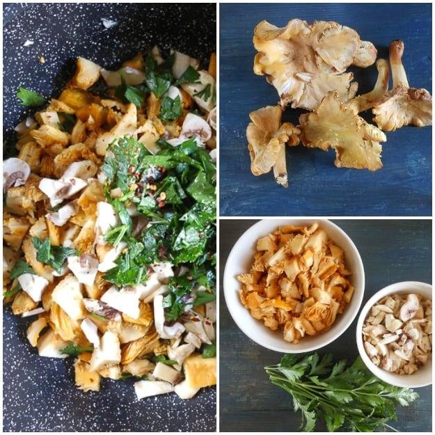 Simple Italian Fettuccine and Mushrooms Pasta Dish, a tasty dinner recipe,no cream needed, full of mushrooms & so Yummy!