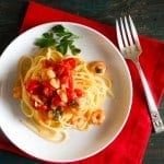 shrimp and tomato pasta