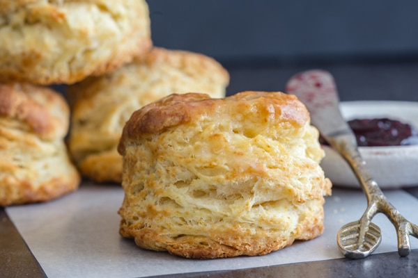 biscuits on top of each other and one on a white piece of paper