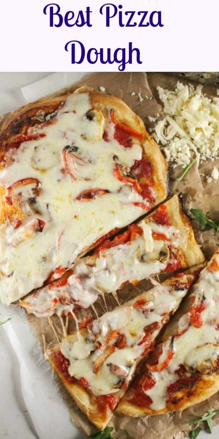 Best Pizza Dough, an easy, homemade pizza dough recipe that will become your favorite go to for pizza night. Thick or thin crust you decide.|anitalianinmyktichen.com