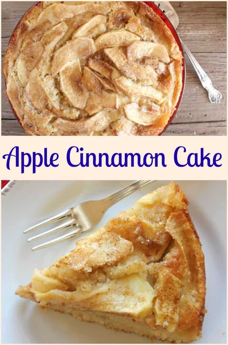 Apple and Cinnamon Cake, a healthy cake loaded with apples, a perfect breakfast, snack or dessert cake recipe. A yummy Fall dessert.