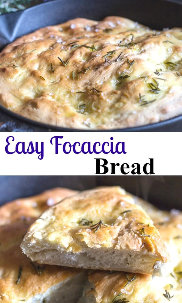 Easy Focaccia Bread, a delicious alternative to bread, a pizza type dough topped with olive oil, salt and fresh rosemary then baked to perfection.#focaccia #bread Italianrecipe #pizza