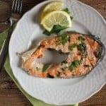 grilled salmon steaks/anitalianinmykitchen
