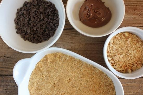 nutella chocolate peanut butter bars