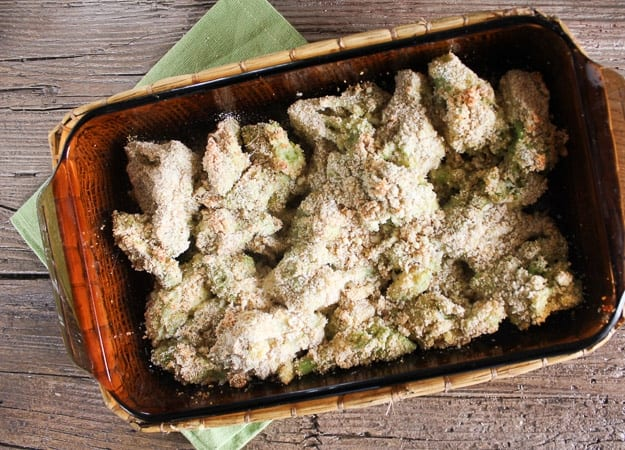 baked breaded broccoli/anitalianinmykitchen.com