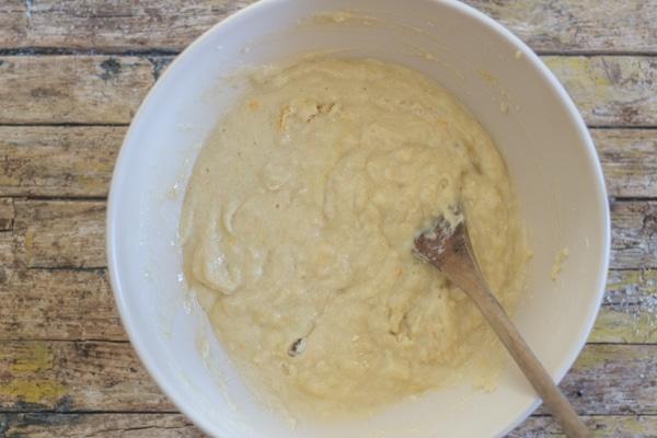 orange muffins batter mixed