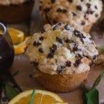 up close orange muffins