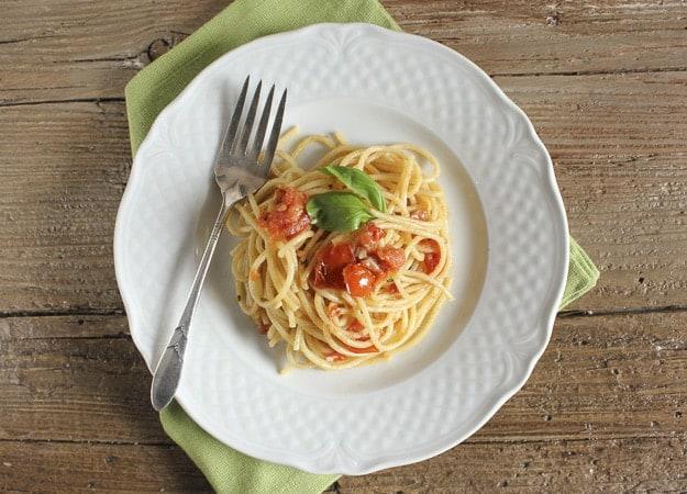 spaghetti e alici /anitalianinmykitchen.com