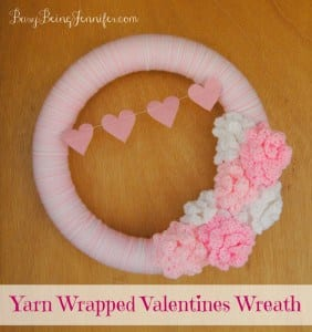 Yarn wrapped valentines