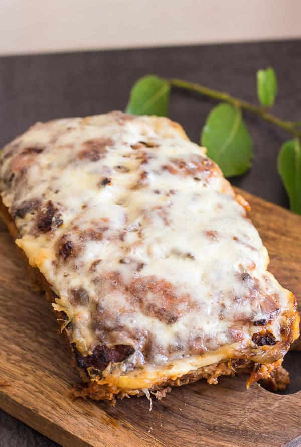 best meatloaf baked with melted cheese on top