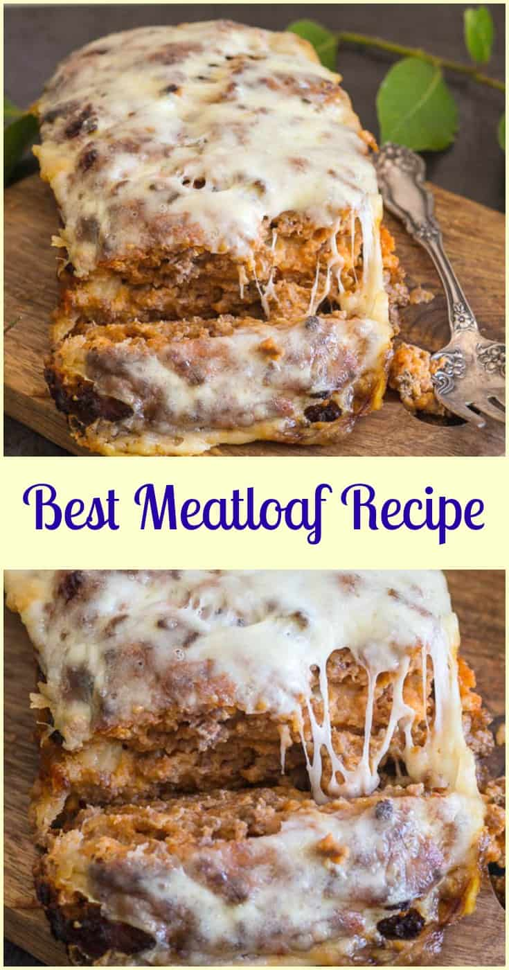Best Meatloaf, the only #meatloaf recipe you need. So delicious a tasty & #cheesy #dinner. Perfect out of the oven or sliced cold in sandwiches.#cheese #ground beef