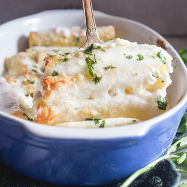 cannelloni in a pan