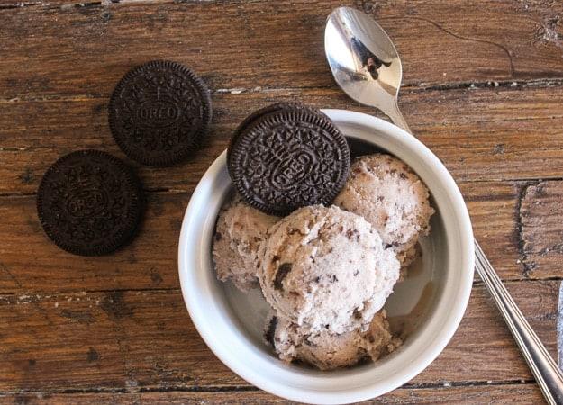 nutella oreo gelato