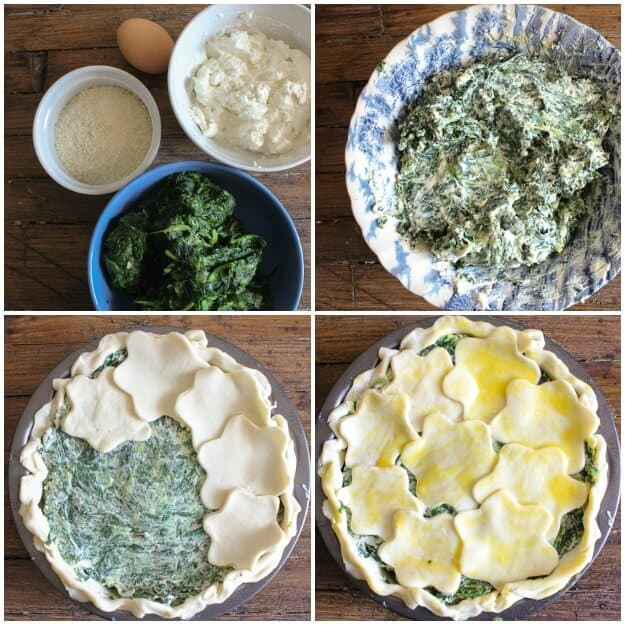 A delicious Italian Savory Pie Recipe, made with Ricotta, Spinach and Parmesan Cheese. The Perfect healthy dinner or appetizer.