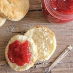 homemade no pectin strawberry jam and best biscuits/anitalianinmykitchen.com