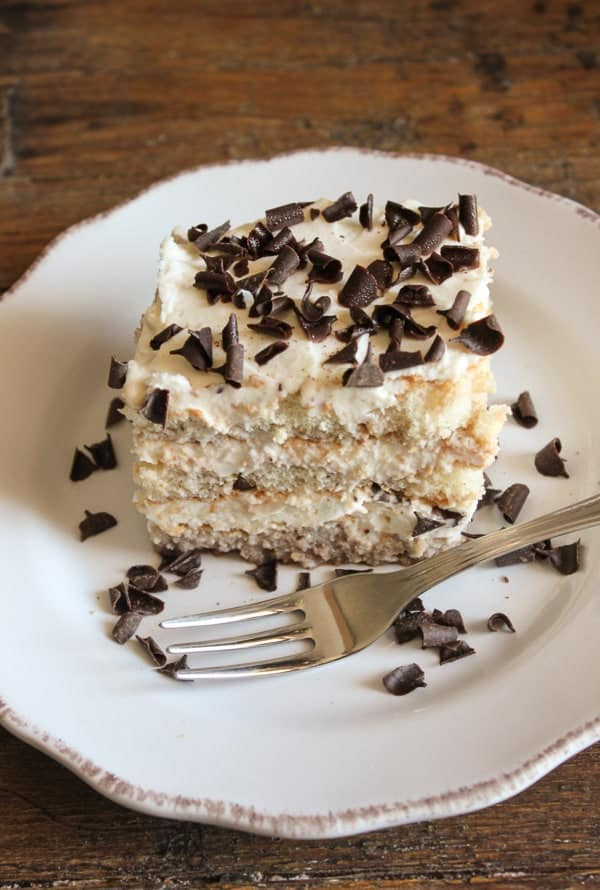An Easy Tiramisu recipe for kids, a no-bake, delicious Italian dessert, made with every kids (and maybe adults too!) favorite ingredient.