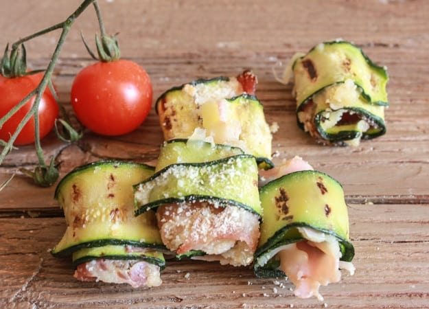 best size grilled zucchini roll-ups