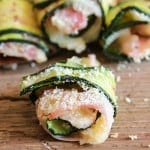 Bite Size Grilled Zucchini Roll-ups are the perfect appetizers, a fast, easy and delicious recipe. Great anytime or even when entertaining.|anitalianinmykitchen.com