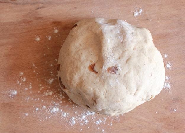 dough on a board