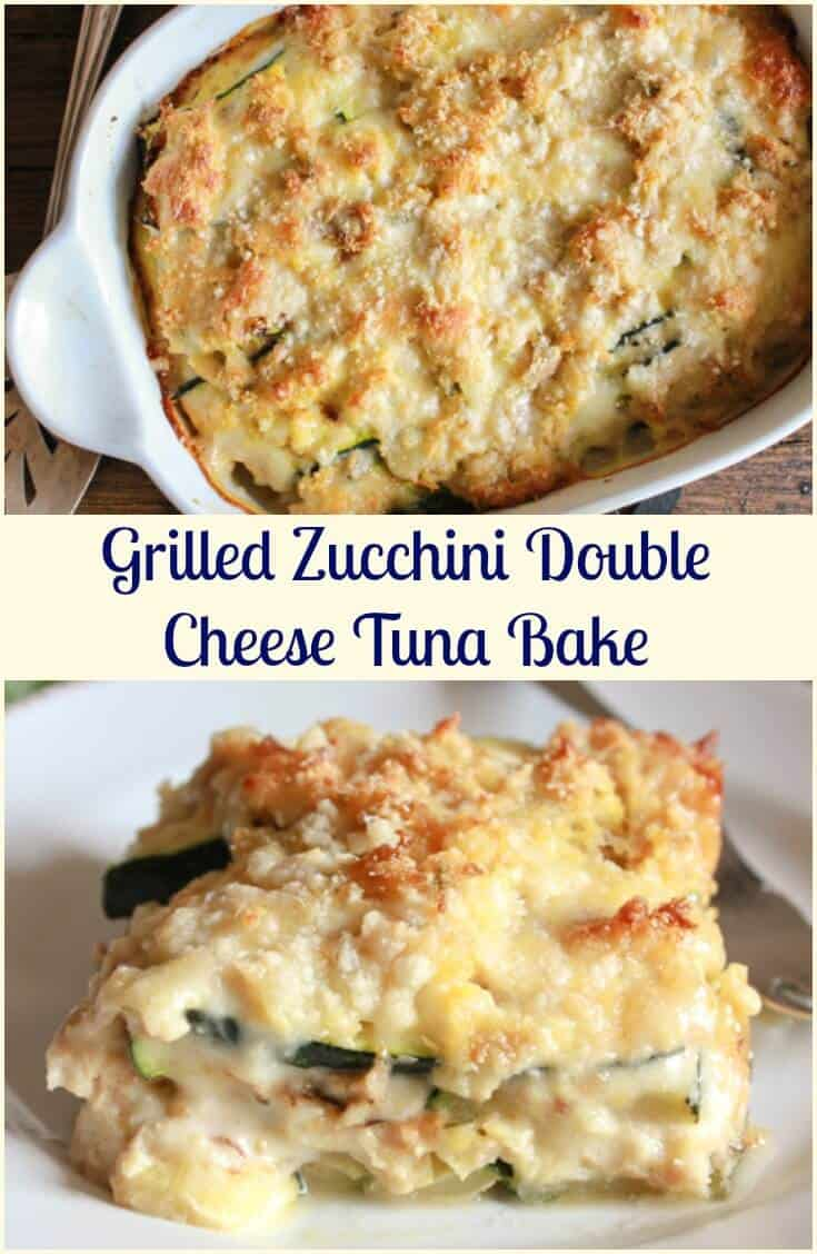 Grilled Zucchini Double Cheese Tuna Bake a delicious healthy, cheesy and creamy bake, the perfect family dinner, your new favourite.