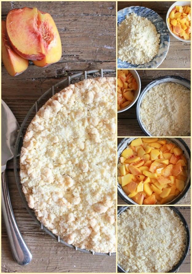 Italian Fresh Peach Crumb Cake | Wishes and Dishes