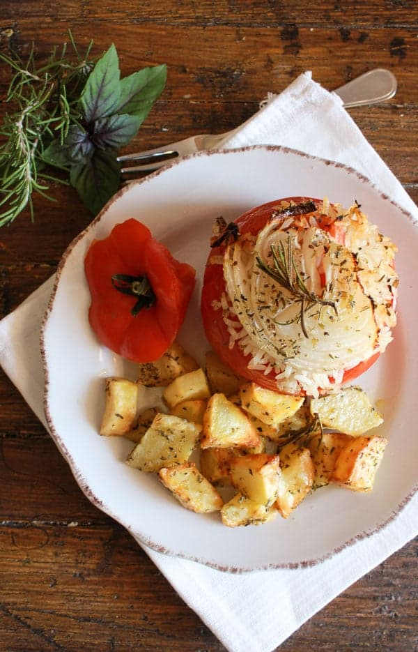 Italian baked stuffed tomatoes with rice forumfinder Choice Image