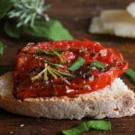 Italian Pan Fried Tomatoes, the perfect appetizer or side dish , a quick, easy, healthy recipe. Vegan, vegetarian, low carb and gluten free.