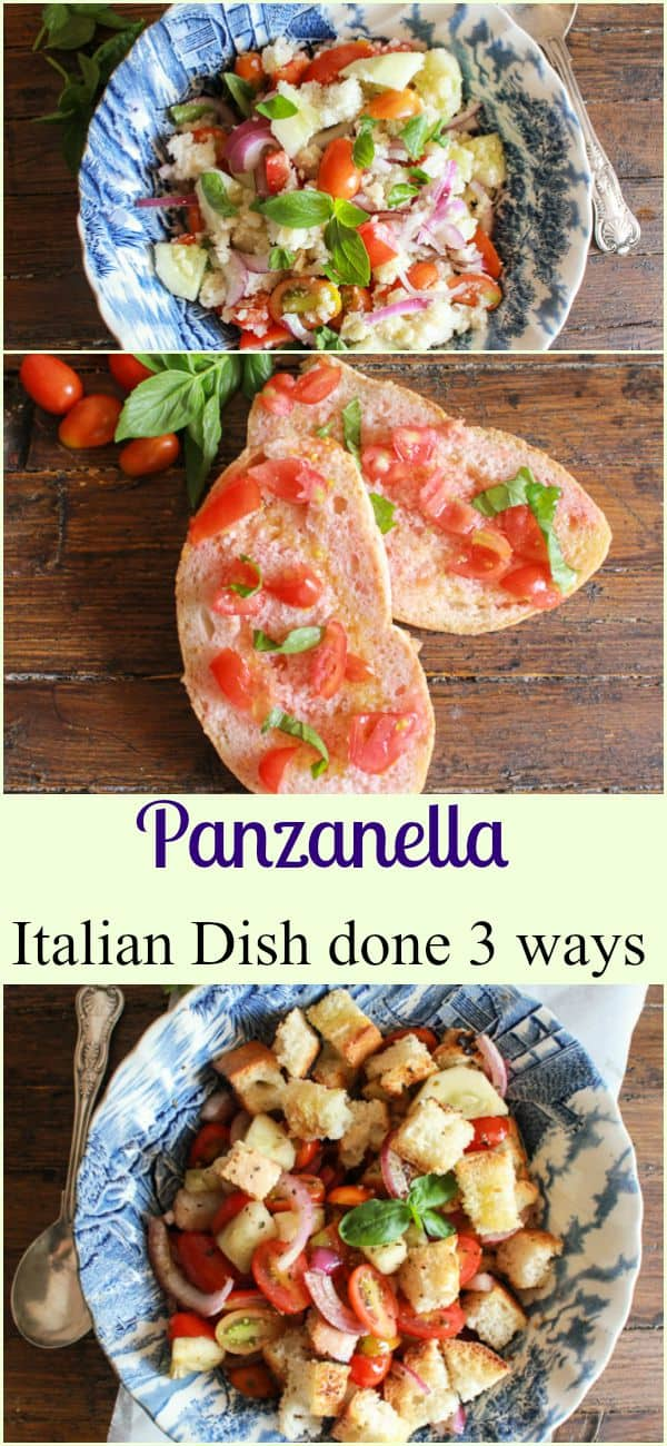 Make It Happen Panzanella Done Three Ways, a delicious Italian recipe, grilled, traditional and Roman. Take your pick! Enjoy them all/anitalianinmykitchen.com