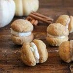 Pumpkin Baci di Dama with Mascarpone Filling, a delicious, delicate Italian cookie recipe, the perfect homemade Fall dessert or snack.|anitalianinmykitchen.com
