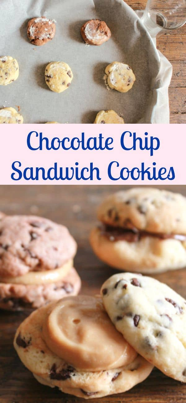 Chocolate Chip Sandwich Cookies, the perfect cookie, chocolate/double chocolate chip stuffed with Nutella or a creamy peanut butter filling or delicious all on its own /anitalianinmykitchen.com