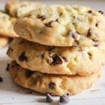 Thick Chocolate Chip Cookies, homemade, easy and full of chips, thick and delicious. Can't get any better than that. The Best Cookie!|anitalianinmykitchen.com