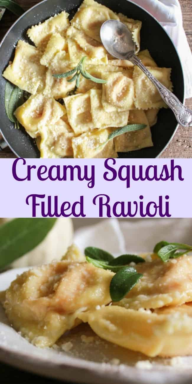 Creamy squash filled ravioli for What to serve with butternut squash ravioli