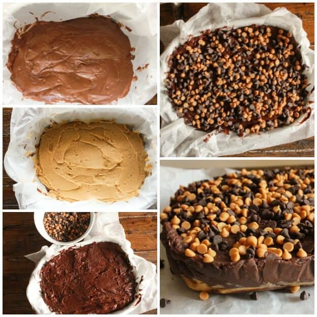 Double Chocolate Peanut Butter Fudge, the best creamy double chocolate fudge, easy, homemade and delicious, perfect anytime.