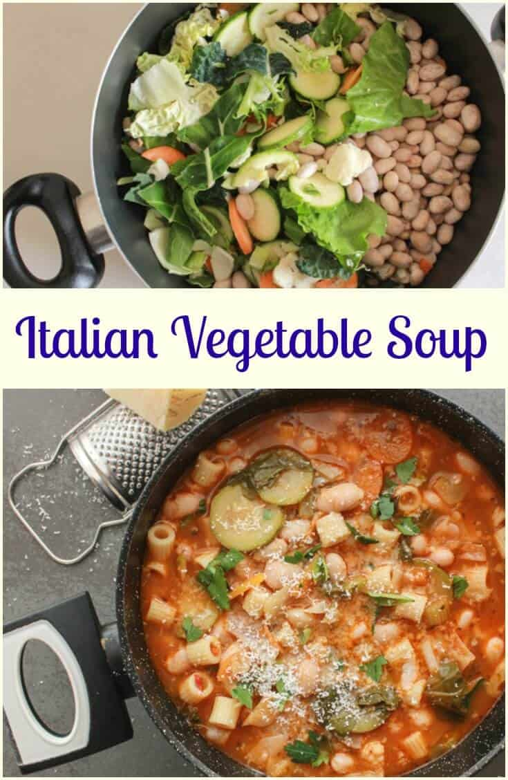 Italian Vegetable Soup, a delicious good for you full of veggies soup recipe, fast, easy,vegan and vegetarian the perfect comfort food soup.