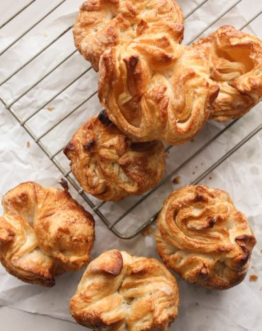 Kouign Amann, a Bretagne Pastry recipe, a delicious buttery cake that is worth all the effort. A delicious homemade french dessert treat.|anitalianinmykitchen.com