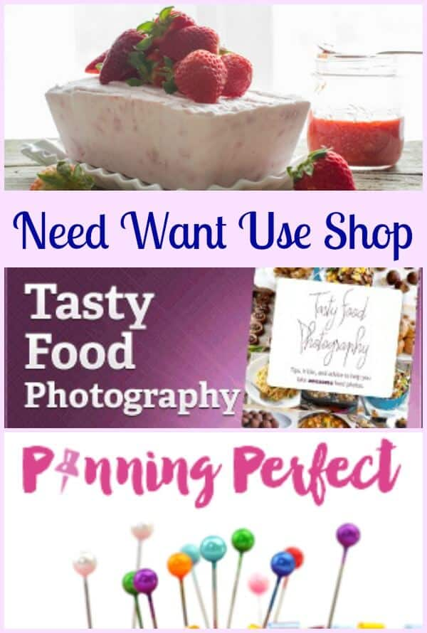 Need Want Use Shop, the products I use to make an Italian in my Kitchen a successful Food Blog. From Photography to Pinterest.