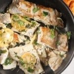 Italian Pan Fried Fish, an easy, simple delicious and healthy fish recipe, 4 ingredients make this dish a family favorite fish dish. Paleo.|anitalianinmykitchen.com