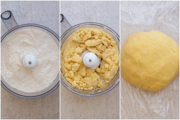 making the pastry in a food processor and forming into a dough